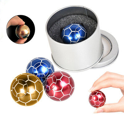 Metal Football Fidget Spinner Ball Hand Finger Toy Stress Relief Gyro Gifts