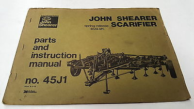 1973  JOHN SHEARER SCARIFIER  Instructions & Parts Book