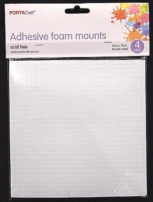 4 Sheets Adhesive Foam Mounts - Double Sided Craft Scrapbooking Sticky Tape Diy