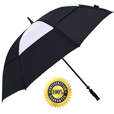 Double Layer Vented Windproof and Rainproof 62 Inch Golf Umbrella - ABUSA Ext...