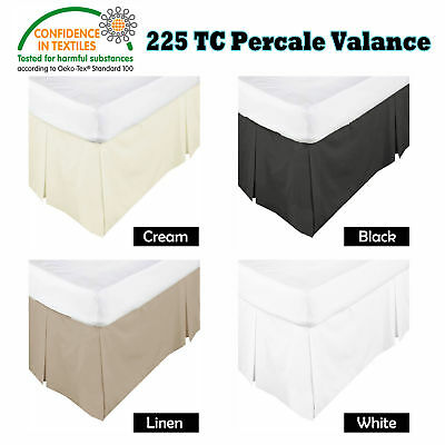225TC Box Pleated Valance / Bed skirt - SINGLE King Single DOUBLE QUEEN KING