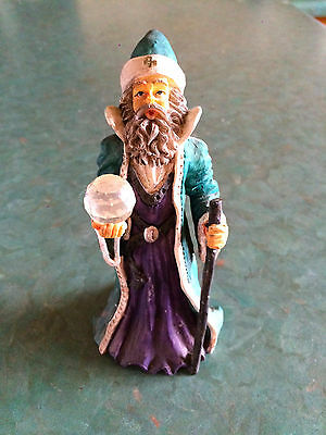 Wizard with Crystal Ball Figurine