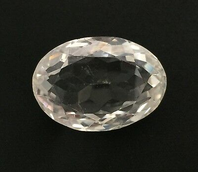 46.77 Ct Natural Crystal Quartz Oval Cut White Colorless Loose 19X28Mm Gemstone