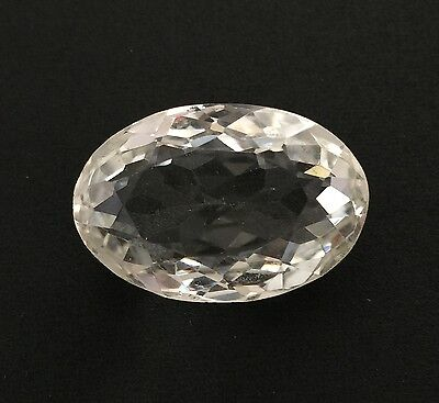 33.92Ct Natural Crystal Quartz Oval Cut White Colorless Loose 17.1X25.6 Gemstone