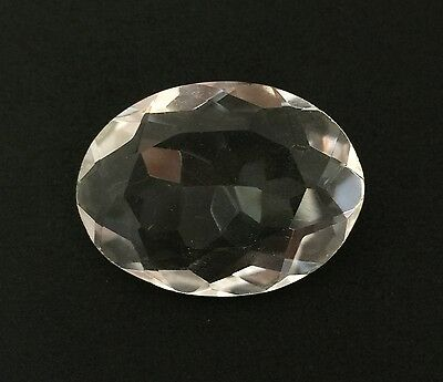 24.23 Ct Natural Crystal Quartz Oval Cut White Colorless Loose Gemstone 19.50X26