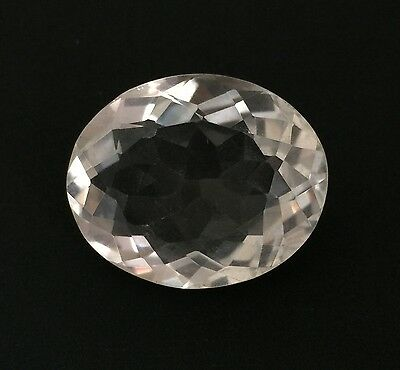 43.44 Ct Natural Crystal Quartz Oval Cut White Colorless Loose Gemstone 22X27Mm