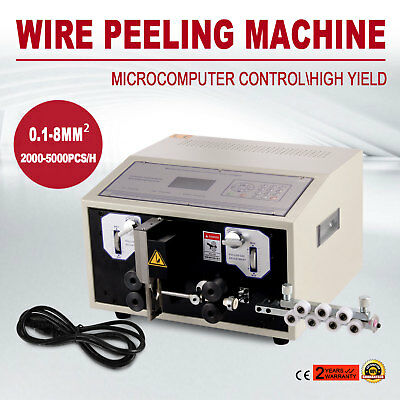 Computer Wire Peeling Stripping Cutting Machine 4 Wheels 0.1-8mm² SWT508-E