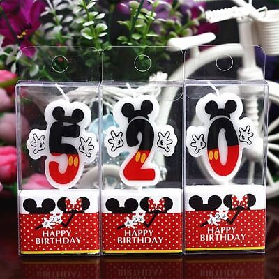 Birthday Number 0 1 2 3 4 5 6 7 8 9 Candles Cartoon Mouse Happy Birthday Candle