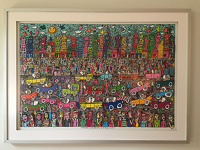"""James Rizzi 3D Collage """"NOTHING IS AS PRETTY AS A RIZZI CITY"""" Original, 2011"""