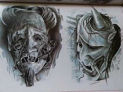 Black And Grey Tattoo Flash Book - Used Spare Parts - Frame - Coils - Machine