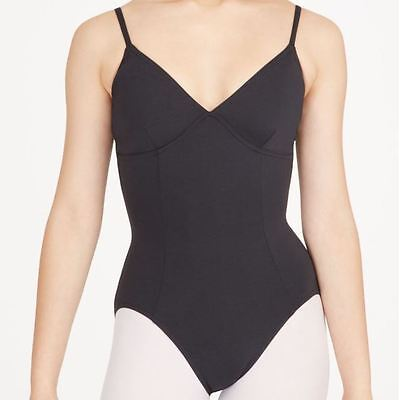 Capezio Adult Black Meryl cami Leotard with Darts ballet dance szL BNWT (8)