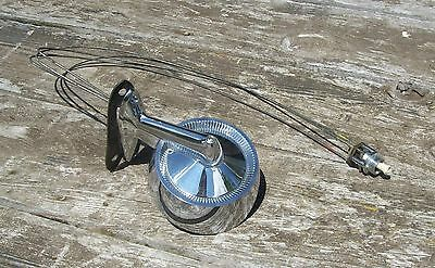 Vtg Chrome NOS Unused Jarvis Ski Boat & Car Rear View Mirror with Remote Control