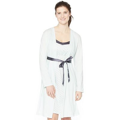 NWT Maternity Oh Baby by Motherhood™ Satin Trim Nursing Gown & Robe Set