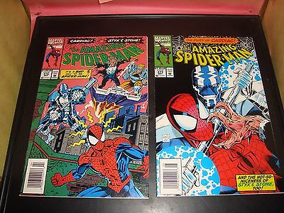 Amazing Spider-Man #376 377 Marvel Comic Book Lot Of 2 1993 NM Condition