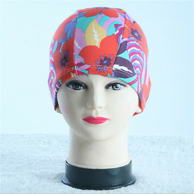 Multi-Color Adult Lycra Fabric Swimming Cap Stretch Elastic Swim Bathing Hat Hot
