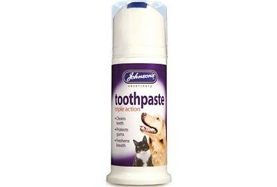 Johnsons Toothpaste Triple Action For Dogs & Cats 50G Cleans Teeth Fresh Breath