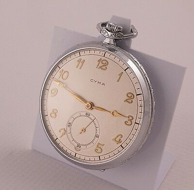 CYMA 1930's Art Deco Era NEW OLD STOCK Swiss Pocket Watch