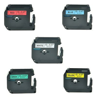 """5PK MK 231 431 531 631 731 Label Tape for Brother P-Touch PT-65VP Printer 1/2"""""""