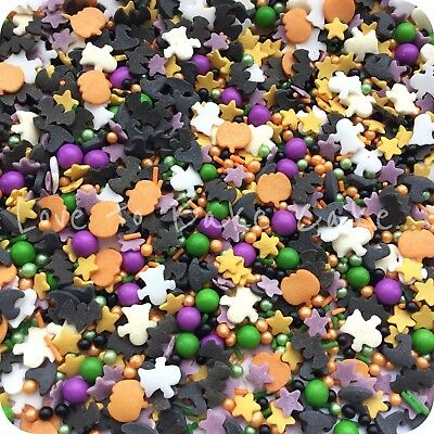 HALLOWEEN MEGA MIX Edible Sugar Halloween Cupcake Sprinkles Cake Decoration