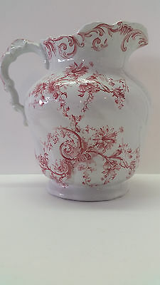 Early Transferware 1895-1901 Pitcairns Colwyn Turnstall England Wash Pitcher 10""