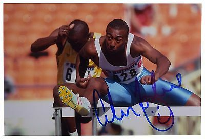 Colin Jackson SIGNED 6x4 Photo Autograph Olympic Hurdles Sport AFTAL & COA