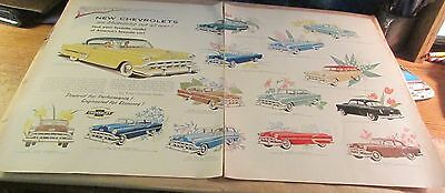 Old Automobile Ad[Orig.]-<1954>--CHEVROLET--< MODELS FOR 1954 >- (2 Pages)