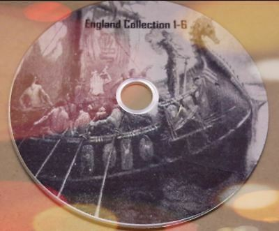 History Of England Collection 1-6 old books converted to Pdf format on disc