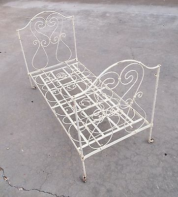 Rare Antique Wrought Iron Folding Day Bed Daybed
