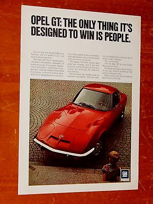 Sweet 1971 Opel Gt Classic Sports Car Ad - Retro 70S Vintage Performance Auto