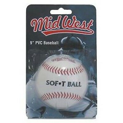 Soft Tee Baseball 9inch Rubber centre Ball White One Size
