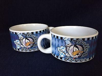 Set Of 2 Looney Tunes Daffy Duck Diner Soup Mugs