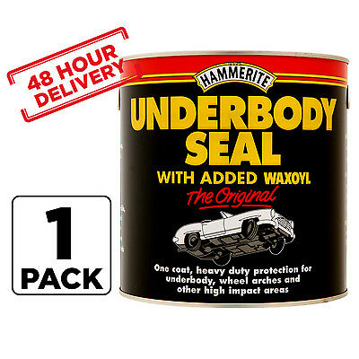 1 Litre Hammerite Under Body Seal Rust Car Treatment Waxoyl Brush On Paint tin