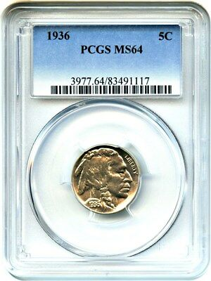 1936 5c PCGS MS64 - Buffalo Nickel