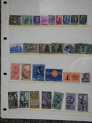 28 used Italy Stamps