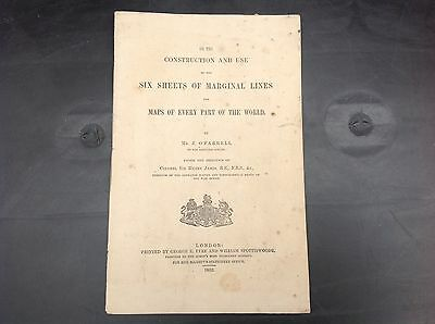 1862 Booklet - Six Sheets Of Marginal Lines For Maps Of Every Part Of The World