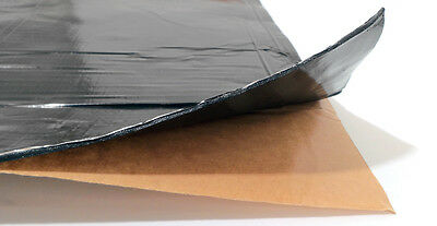 GTMAT Onyx 4 SqFT Butyl Sheets 80mil Car Sound Deadener w/ Dynamat Xtreme Sample