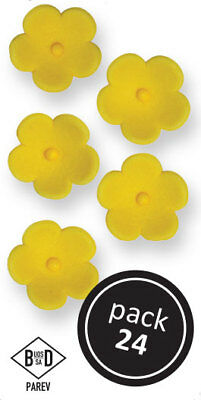 PME Large Yellow Blossoms Cup Cake Icing Sugarcraft Baking Decoration (24/Pk)