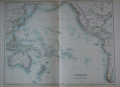 1897 Oceania And Pacific Ocean Large Map