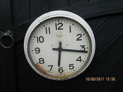 Antique / Vintage / Industrial Tempco Electric Wall Clock - Large Factory Clock