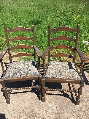 Pair Jaycee Carver Dining Chairs Country Living Cottage   22/5/U