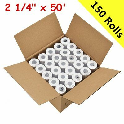 "150 Roll Credit Card 2 1/4"" x 50' Thermal Paper Rolls Nurit 8000 Ingenico ICT220"