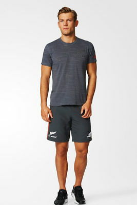 All Blacks New Zealand Adidas Complete leisure time kit T-Shirt and Shorts Gre