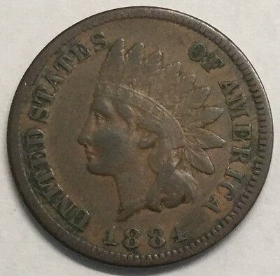 1884 1C Indian Cent- XF
