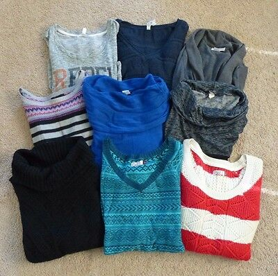 Variety Lot of 9 Juniors Sweaters & Cardigans - Size M/L - Aeropostale, SO