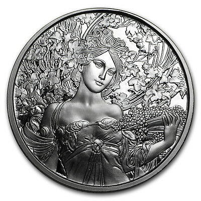 1 oz Silver Proof Round Mucha Collection (Champagne White Star) - SKU#150390
