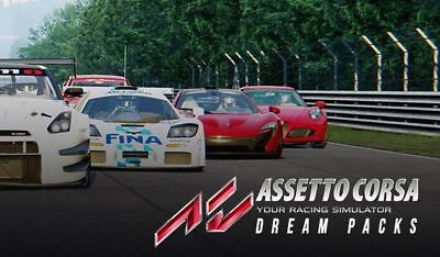 Assetto Corsa + Dream Packs 1 2 & 3 Steam Download Key Digital Code [DE] [EU] PC