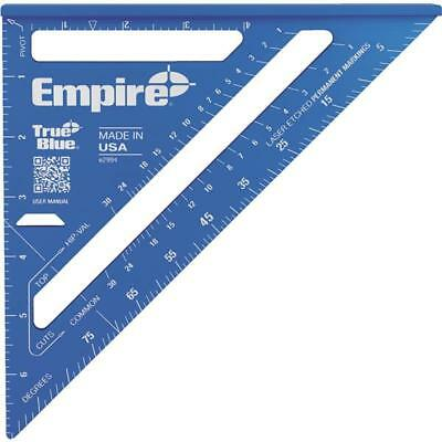 "Empire True Blue 7"" Aluminum Laser Etched Rafter Square E2994"