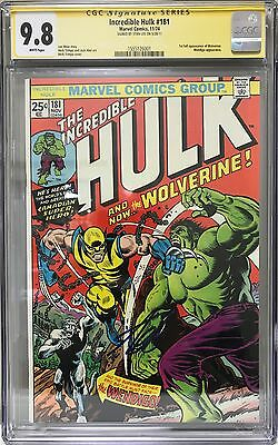 Incredible Hulk #181 Cgc 9.8 Signature Series Stan Lee 1St Full Wolverine