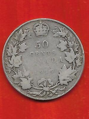 King George V Fifty Cent Piece – 1919