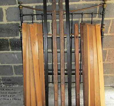Original Victorian Edwardian Iron brass small double bedstead